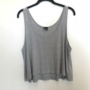 UO | Sparkle & Fade Grey Cropped Tank Top